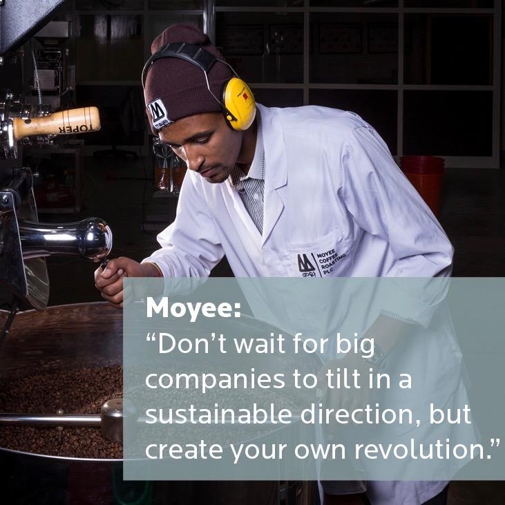 Positive impact creator Moyee Coffee
