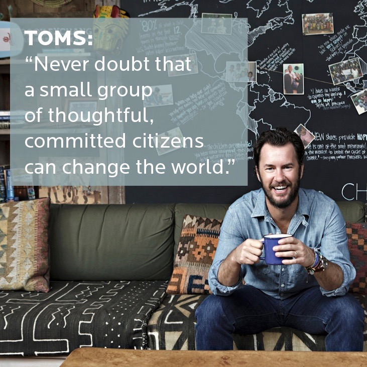 Positive impact brand TOMS
