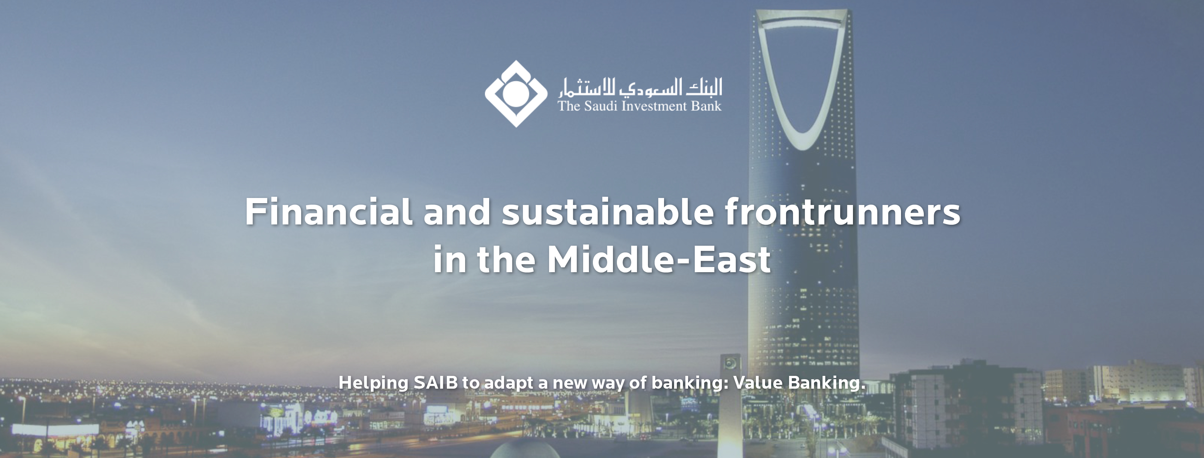 Creating sustainable frontrunners with value banking